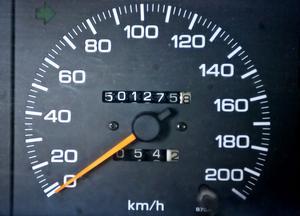 Här är bildbeviset. 501275,8 kilometer.