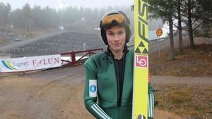 Norrmannen Robin Pedersen gjorde cirka 20 hopp under söndagen.