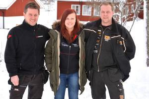 Tre gästrikar som alla vill palla i Vinterpokalen. Martin Berglund, Evelina Olofsson och Tobias Söderqvist.