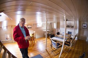 I fartygets skans fanns besättningens sex kojer. Idag är det skeppets salong.