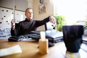 Peter Johansson är den person som Hyresgästföreningen valt ut som sin förkämpe i parasittvisten med Östersundsbostäder.