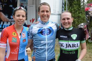 Felicia Ferner, Borlänge CK, Hanna Bergman, Falu CK och Kajsa Snihs, IK Jarl Rättvik.
