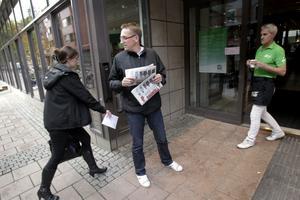 Vem ska jag satsa på? Per Bäckström, som varit med om göra nya layouten, försökte fånga läsare utanför Nian.