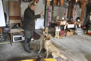 lydnad. Jenny Närfors utbildar hundar i vardagslydnad och driver butik i Edsbro kvarn. Bra pli har hon på de egna jaktlabradorerna Toni och Pärla.