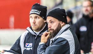 Tikllbergas tränarduo Olle Wiberg och Oskar Robertsson.