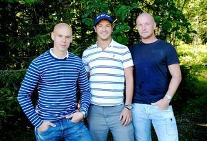 Trio från Edsbyn som är tillbaka från sitt ryska äventyr i Kazan; Daniel Välitalo, Hans Andersson och Anders Svensson.