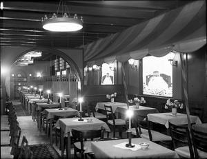 Interiörbild från Centralhotellet 1937.