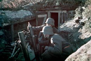Scen ur filmen Okänd soldat.