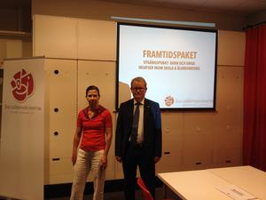 De socialdemokratiska kommunalrådskandidaterna Carin Lidman och Anders Teljebäck vill satsa på barn och äldre.