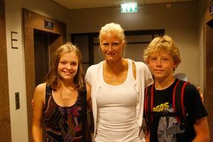 Stina Johansson, Carolina Klyft och Samuel Wallberg.