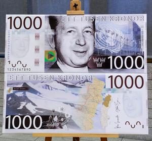 Dag Hammarskjöld på 1 000-kronorssedeln.