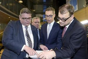 Kommer Timo Soini (Sannfinl), Alexander Stubb (Saml) och Juha Sipilä (C) bilda regering ihop?