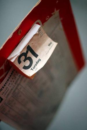 Postombudet lades ner 31 maj 1979. Ulla Halvarsson har sparat almanackan, det var hennes svärmor som var postombud i Högvålen.