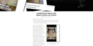 I Soldiers of Odins slutna chatt är rasismen och sexismen öppen. Bilden är en skärmdump från Aftonbladets granskning.