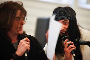 Andreas Ås och André Olofsson går på estetprogrammets musikinriktning.