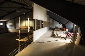 Byggarbetet med den nya kafeterian är påbörjad.