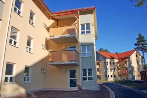 Rättviksbostäders hyreshus i Enålund. I de här två huskropparna finns det totalt 16 lägenheter.