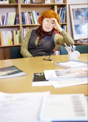 """""""Vi har i alla fall försökt peka på missnöjet, även i dåliga tider behövs våra medlemmars kompetens"""", säger Kristina Fluur-Hedman, Vårdförbundets ordförande i länet."""