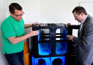 Nya kassetter. Thomas Karlsson och Anders Byttner berättar om de klossliknande kassetterna som kan ersätta stenkistor och förhindra översvämningar, framför allt där grönområden saknas.