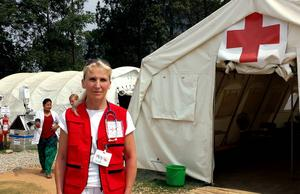 Traumasjuksköterskan Maj Gottarps senaste mission för Röda korset var i Nepal efter jordbävningen, att hennes nästa uppdrag skulle vara i Sverige hade hon aldrig räknat med.