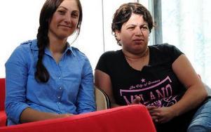 Fergal Akgül och Dilber Yilmaz hade frågor dels om arbetslösheten, dels om neddragningar i offentlig sektor.FOTO: KLARA ERIKSSON