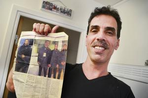 Mohammad var livvakt innan han tvingades fly till Åsarna. För sex månader sedan ingick han i en speciell säkerhetsservice som kunde hyras ut till världsartister som Shakira.