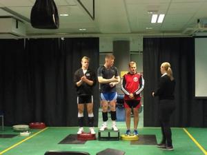 Isak Friberg tog silver. Isak till vänster i bild.