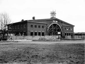 Södra station under byggnad.