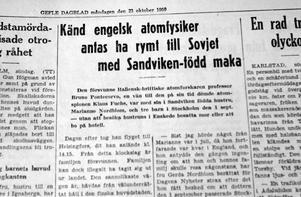 Gefle Dagblad den 26 oktober 1950.