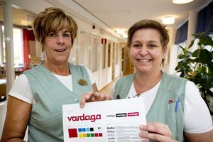 Helena Johansson och Stina Syrén arbetar på Vardagas demensboende Älandsgården i Härnösand.