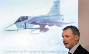 Försvarskoncernen Saab redovisar lägre vinst.