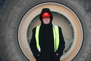 Andreas Hoffmann på besök i nordnorska Sydvaranger gruve.