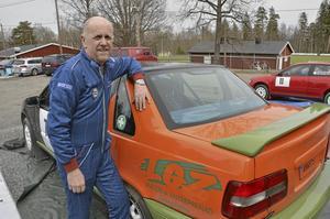 Lars-Göran Zetterlund, centerpolitiker i Hällefors, körde nu sitt första rally på 31 år.