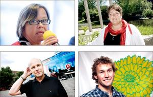 Hycklare? Kommunens ledare, Marita Engström (V), Per Johansson (S), Carina Blank (S) och Roger Persson (MP) tycks vara redo att spara pengar på bekostnad av principen om rätt till heltid.