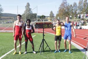 Nytt prydligt banrekord på 100 meter av Jean-Baptiste Kling.
