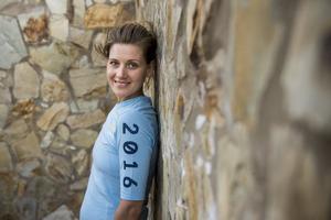 Emma Johansson, cykel poserar för ett porträtt under ett förläger inför OS 2016, den 18 november 2015 i Fuerteventura .