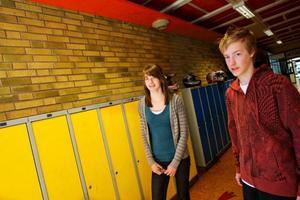 Stina Häggmark som är skydds-ombud och Martin Hallberg som sitter i elevrådet är överrens med rektorn om att satsningen på pengabarometern blivit lyckad.