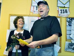 Ägarparet Anneli Kålen och Jan Karlsson, som basar över 30-talet anställda i Brattlands Åkeri, var genuint glada över att bli Årets företagare i Åre.