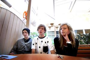 Lättköpt. Ted Hagansbo, Oscar Stäring och Sofie Wretskog är 17 år.