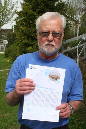 Karl-Erik Nordlund gillar det  nyväckta informationsflödet från Mitt Sverige Vatten. Men läser med kritiska glasögon.