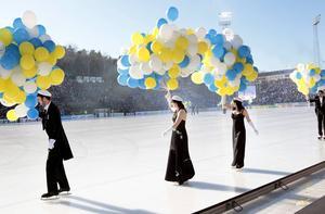 Studenternas IP. Bilden togs 2012 inför avslag i Sandviken–Villa Lidköping i vad som blev den sista finalen innan flytten till Friends Arena. Där spelades två finaler innan finalen flyttades på nytt. Lördagens final var den andra på Tele2 Arena.