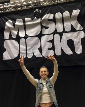 Alma Dahlberg var lycklig över sin finalplats i Musik Direkt.