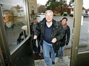 Vänsterpartiets partiledare Lars Ohly besökte på torsdagen Söderhamn.
