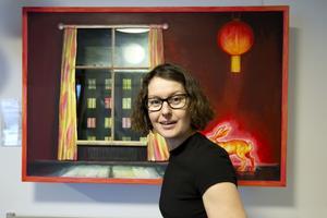 Katarina Strömgård har skapat en bilderboksmiljö på Familjecentralen i Sätra.