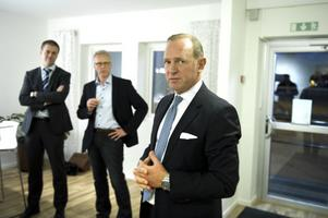 Frank Fiskers, vd och koncernchef för KF/Coop, fanns på plats vid visningen av Grådö mejeri.