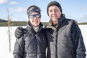 Inger och Kjell Hammarström, från Falun, tävlade inte men ville gärna vara med på Målingen ändå.