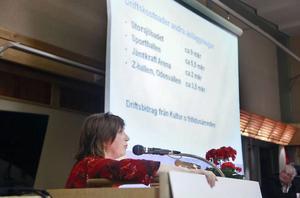 Karin Thomasson (MP) jämförde den nya arenans dfiftkostnader med kostnaderna för bland annat Storsjöbadet.
