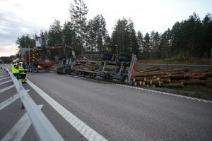 Timmerbilen  var på väg till Hedemora.