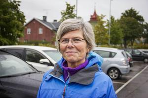 Helena Ångström, Tallåsen, handlar sina dagligvaror i Ljusdal. Hon tycker att utbudet är helt okej med tanke på att Ljusdal är en liten ort.