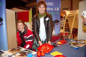 Ann-Lis Dahl från NBE Sweden var på plats och bjöd på tomater från växthuset. Praktikanten Christoffer Dahl från teknikprogrammet i Kramfors gör praktik på företaget en vecka.
